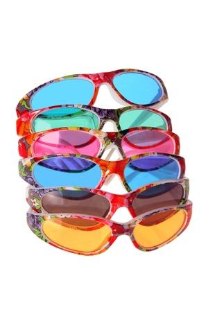 Sunglasses on White Background Stock Photo - 8981618