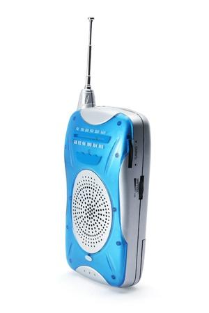 Transistor Radio on White Background photo