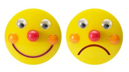 Smiley Toys on White Background