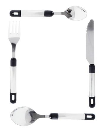 Cutlery on Isolated White Background photo