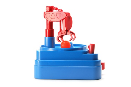 manipulate: Skill Tester Toy on White Background Stock Photo