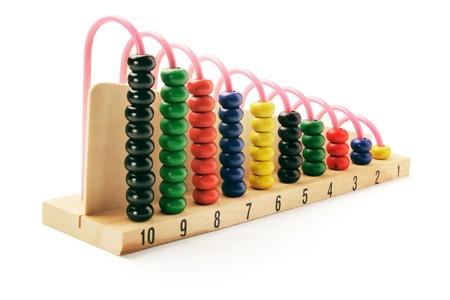 abacus: Abacus on White Background  Zdjęcie Seryjne