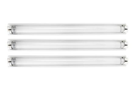 tubos fluorescentes: Tubos fluorescentes sobre fondo blanco Foto de archivo