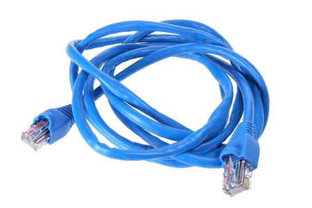 Network Cable on White Background photo