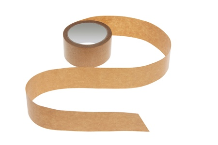 Roll of Packing Tape on White Background photo