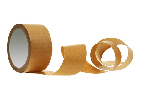sealing tape: Roll of Packing Tape on White Background Stock Photo