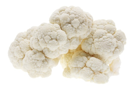 Cauliflower on Isolated White Background photo