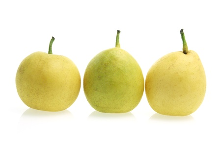Nashi Pears on White Background photo