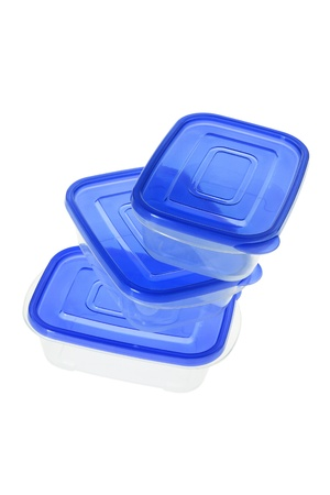 Plastic Containers on White Background Stock Photo - 9267357