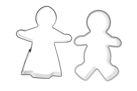 Cookie Cutters on White Background Stock Photo - 9327189