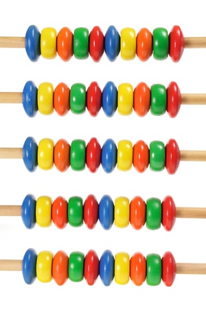 Toy Abacus on White Background photo