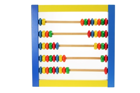 Toy Abacus on White Background photo