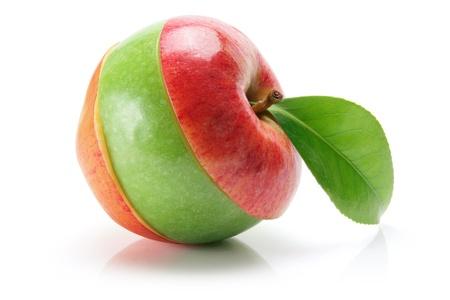 Slices of Apple on White Background photo