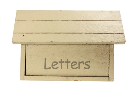 Wooden Mail Box on White Background photo