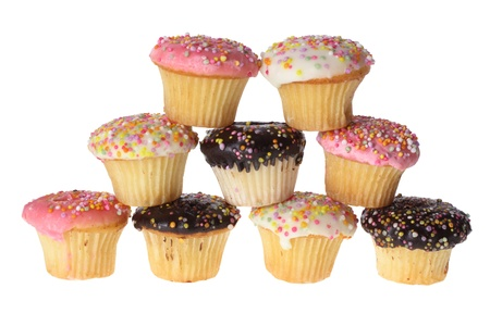 Cup Cakes on White Background photo