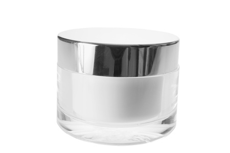 cosmetic cream: Face Cream on White Background