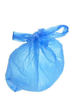 Plastic Shopping Bag on White Background Stock Photo - 9419967