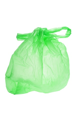 Plastic Shopping Bag on White Background Stock Photo - 9457278