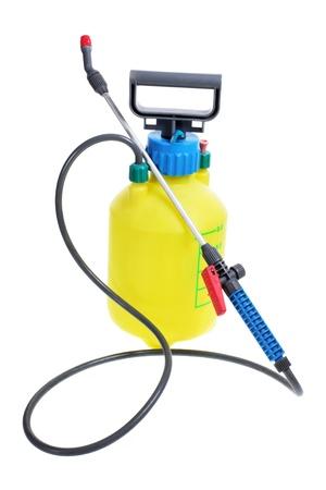 pulverizador: Bomba de presión jardín sobre fondo blanco