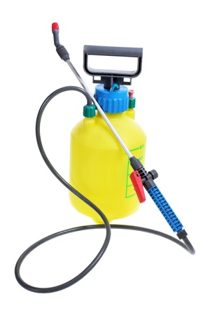 pesticide: Pressure Garden Pump on White Background Stock Photo