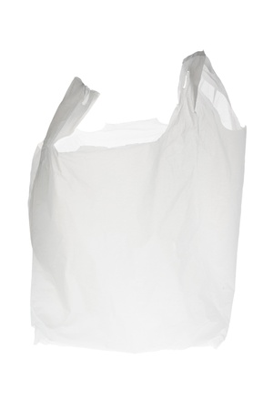 Plastic Shopping Bag on White Background
