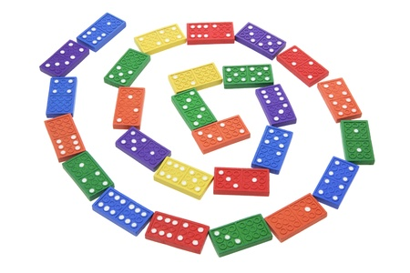 Dominoes on White Background photo