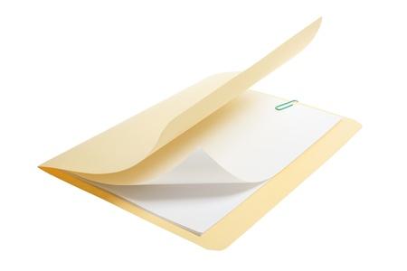 Manila Folder on White Background Stock Photo - 9504924