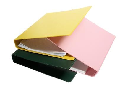 Folders on White Background Stock Photo - 9505025