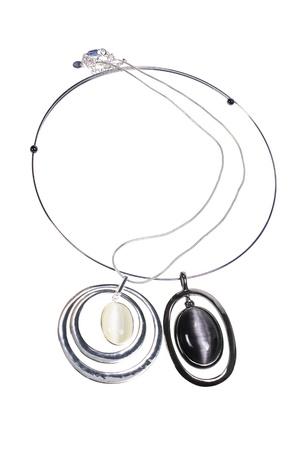 Necklaces on White Background Stock Photo - 9504982
