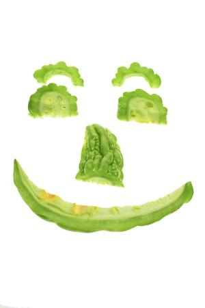 Bitter Melon on White Background photo