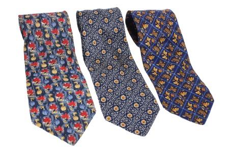 Neckties on White Background Stock Photo - 9582735