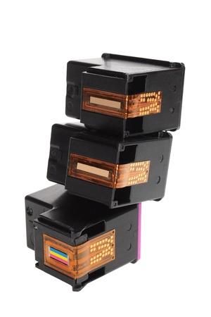 Ink Cartridges on White Background Stock Photo - 9582719