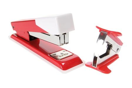 stapler: Stapler and Staple Remover on White Background