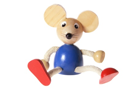 Mouse Toy on White Background photo