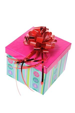 Gift Box on White Background photo