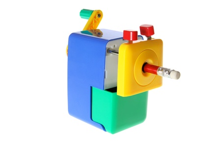 Pencil Sharpener on White Background photo