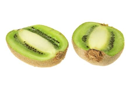 kiwi fruta: Kiwi sobre fondo blanco