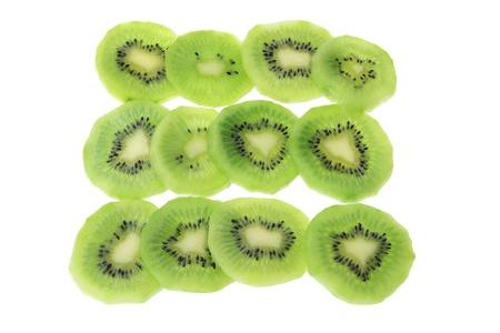 kiwifruit: Slices of Kiwifruit on White Background