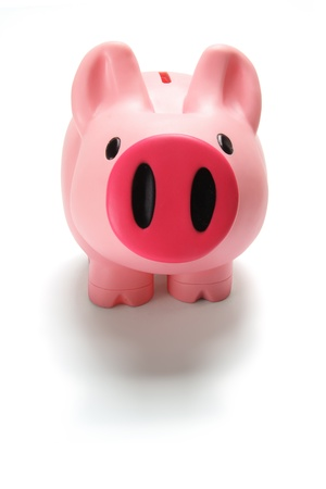 Piggy Bank on Isolated Background photo