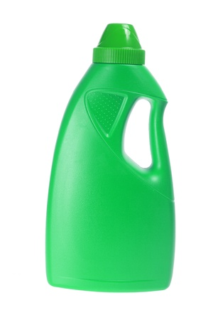 kunststof fles: Plastic fles op witte achtergrond Stockfoto