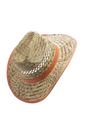 straw hat: Straw Hat on White Background