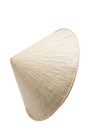 conical: Vietnamese Bamboo Hat on White Background Stock Photo