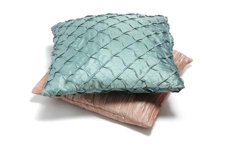 Cushions on Isolated White Background Stock Photo - 9706011