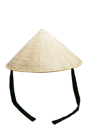 headgear: Vietnamese Rice Hat on White Background Stock Photo