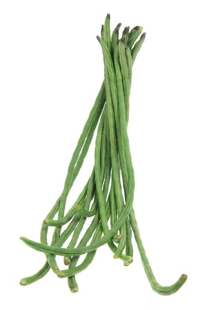 Snake Beans on White Background Stock Photo - 9737562