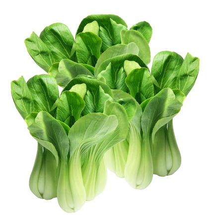 leafy: Chinese Cabbage on White Background