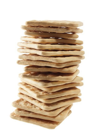Stack of Cracker on White Background photo