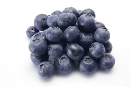 Blue Berry on White Background photo