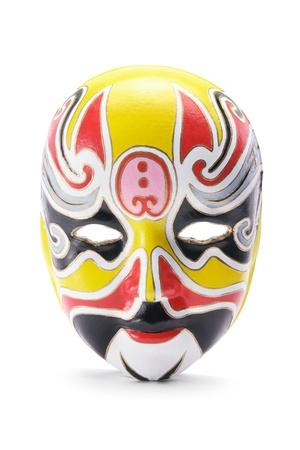 Chinese Opera Mask on White Background photo