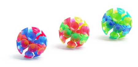 suction: Suction Balls on White Background